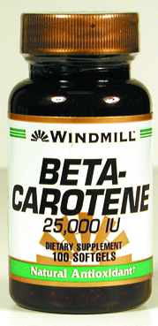 Windmill Beta Carotene 25,000 IU Softgels