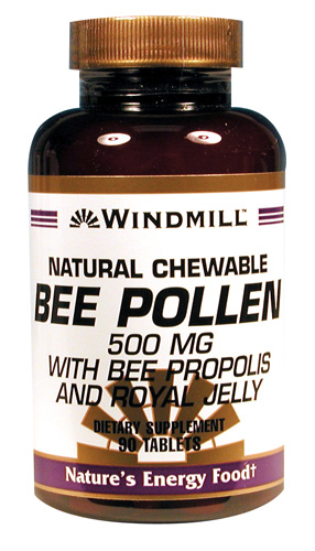 Windmill Bee Pollen 500 mg. Chewable Tablets
