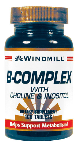 Windmill B-Complex with Choline & Inositol Tablets