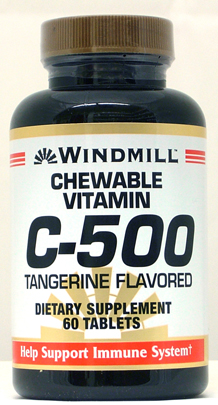 Windmill C-500 mg. Chewable 500 mg Tablets