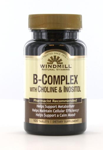 B Complex With Choline Amp Inositol Windmill Vitamins