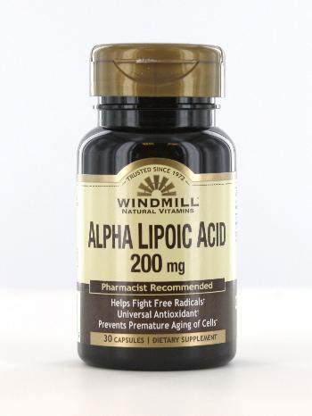 Windmill Alpha Lipoic Acid 200mg Capsules