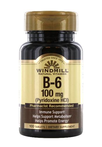 Windmill B-6 100 mg. Tablets