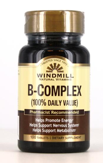 Windmill B-Complex 100% Daily Value Tablets