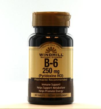 Windmill B-6 250 mg. Tablets