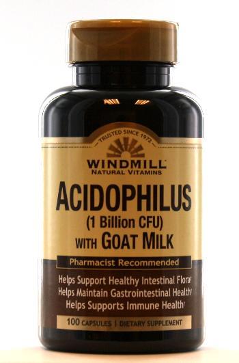 Windmill Acidophilus w/Goat Milk Capsules