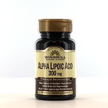 Windmill Alpha Lipoic Acid 300mg Tablets