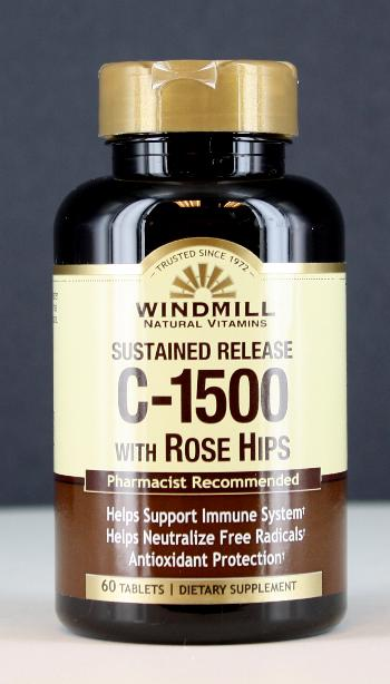 Windmill C-1500 mg.w/Rose Hips S.R. Tablets