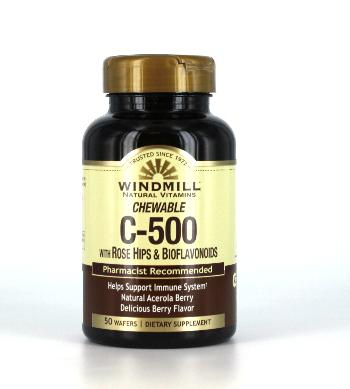 Windmill Acerola Vit. C-500 mg. Chewable Wafers