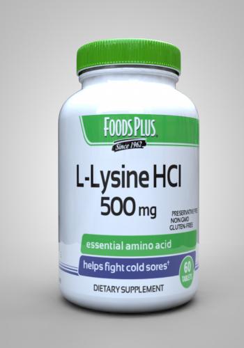 L-Lysine HCI 500mg - fp - Windmill Vitamins
