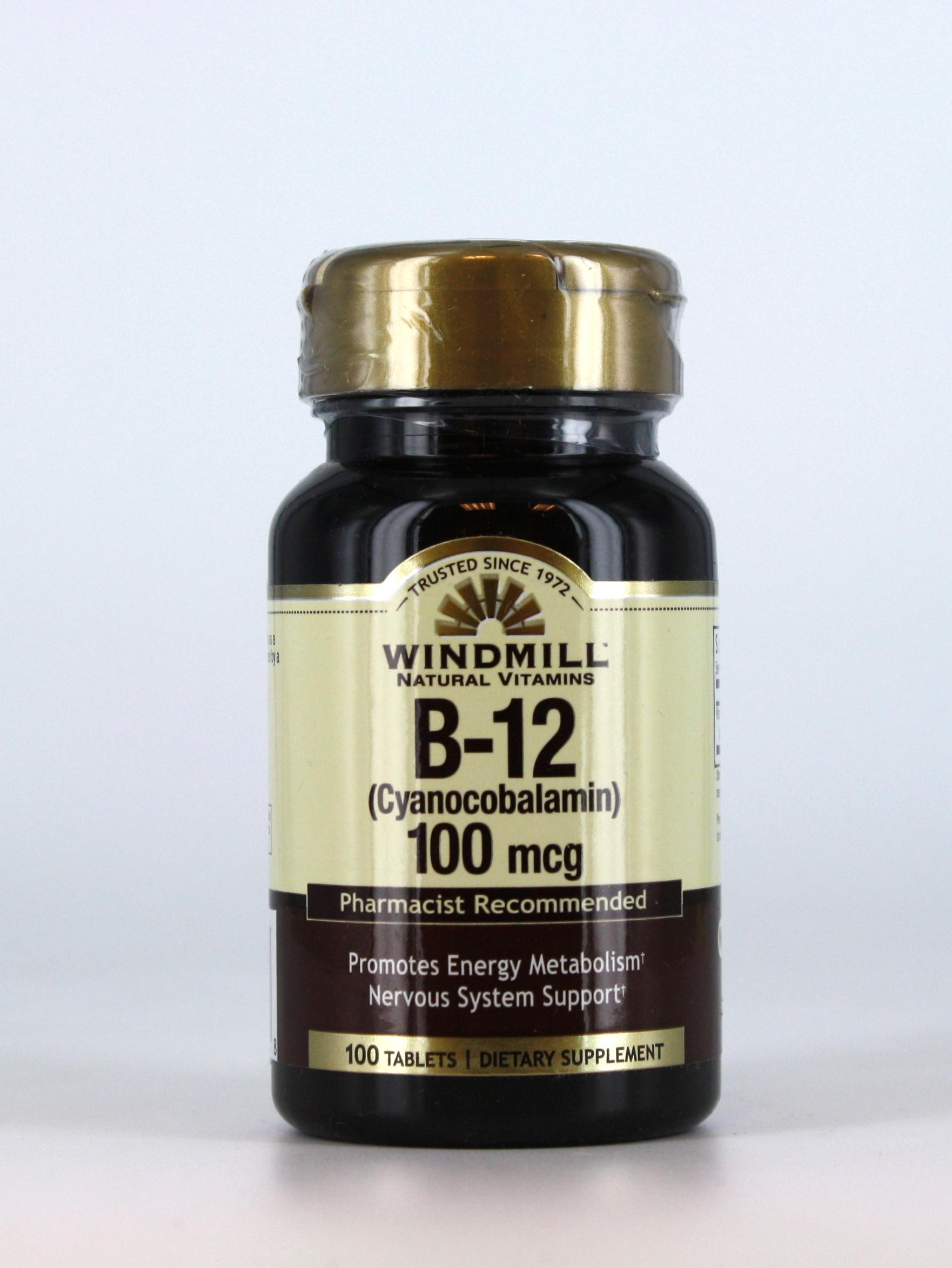 B 12 100 Mcg Windmill Vitamins