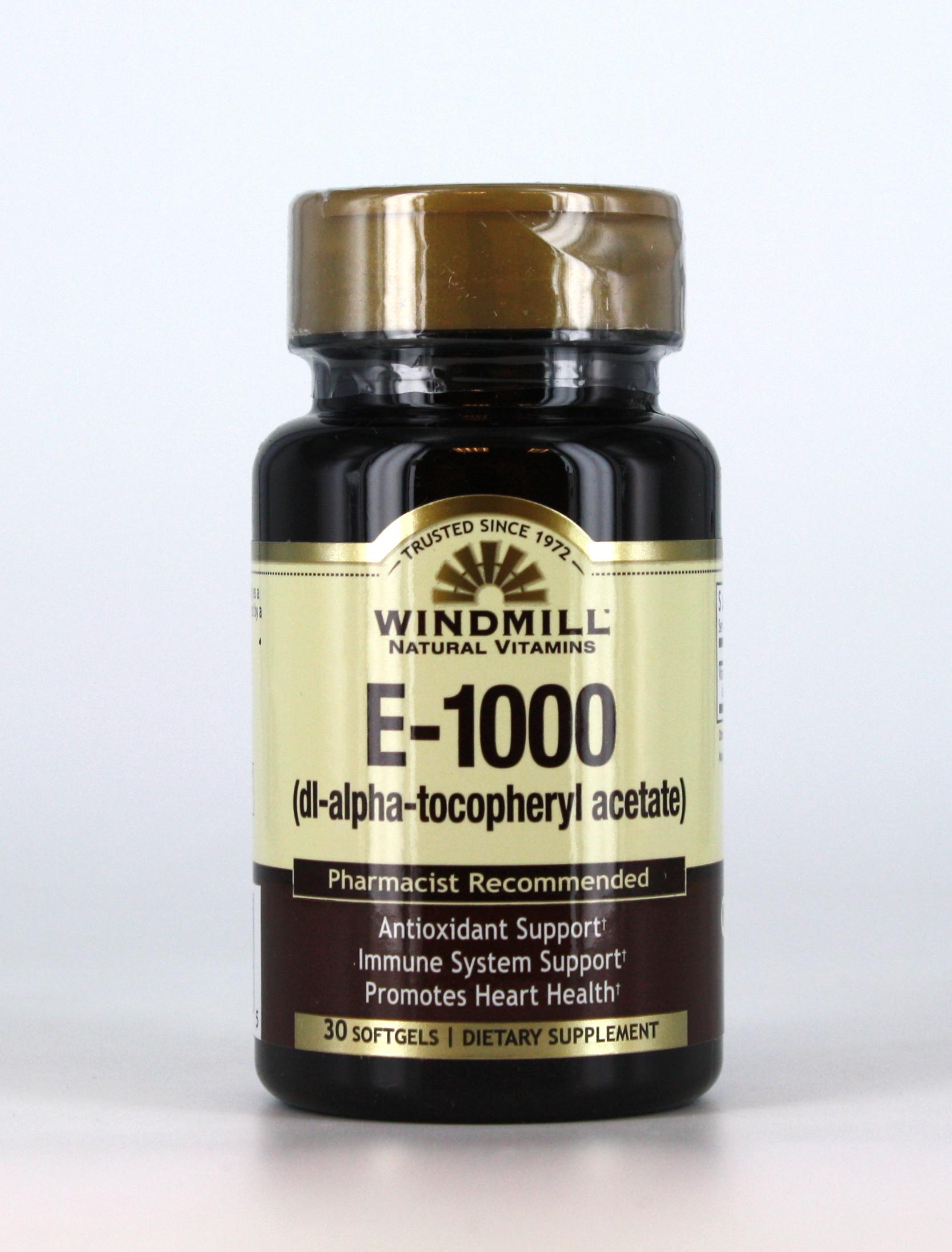 E 1000 I U Windmill Vitamins