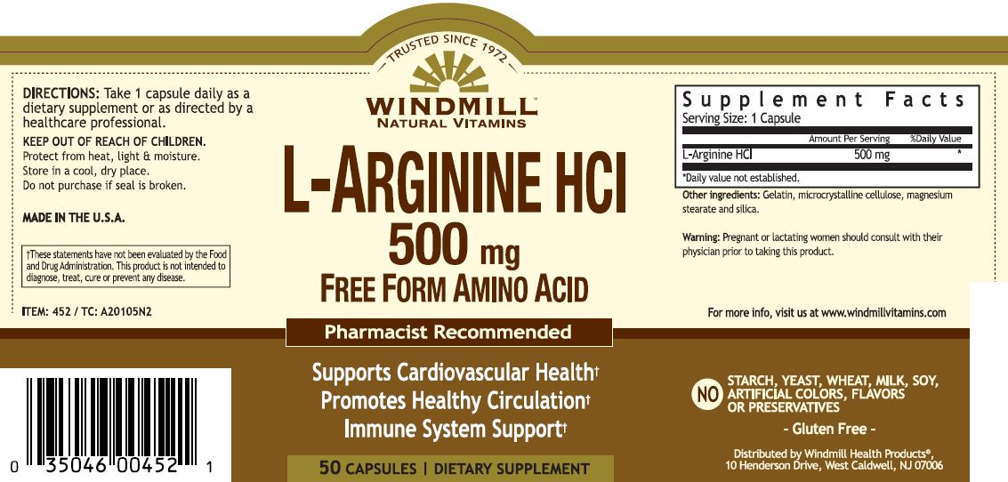 L-Arginine 500 mg  - Windmill Vitamins