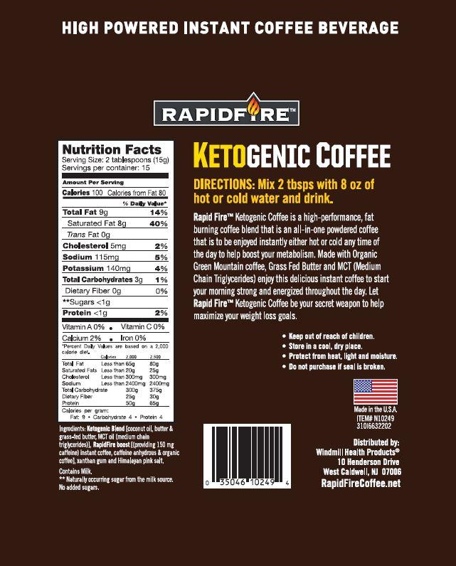 Rapid Fire Ketogenic Coffee Windmill Vitamins
