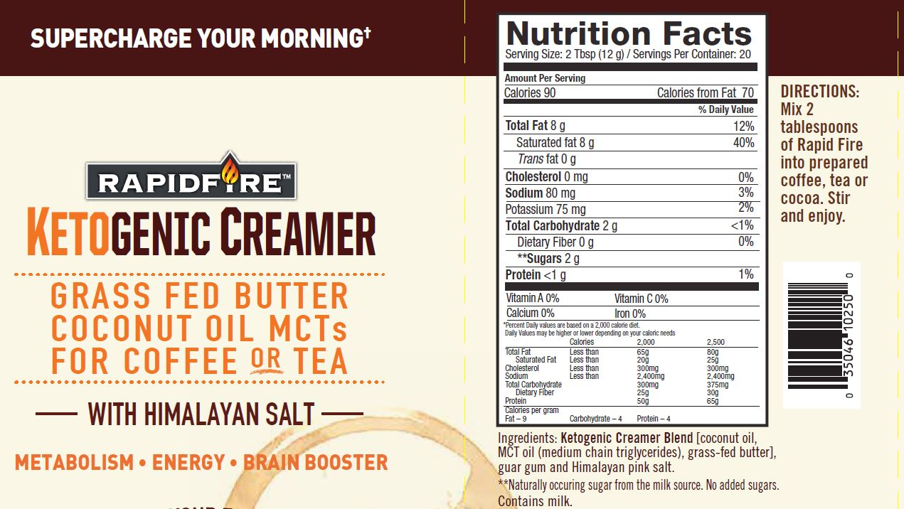 Nutrition Facts For Coffee Creamer | Besto Blog