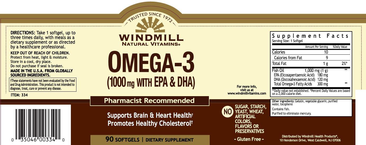Omega Iii Epa Dha Fish Oil 1000 Mg 90 Windmill Vitamins