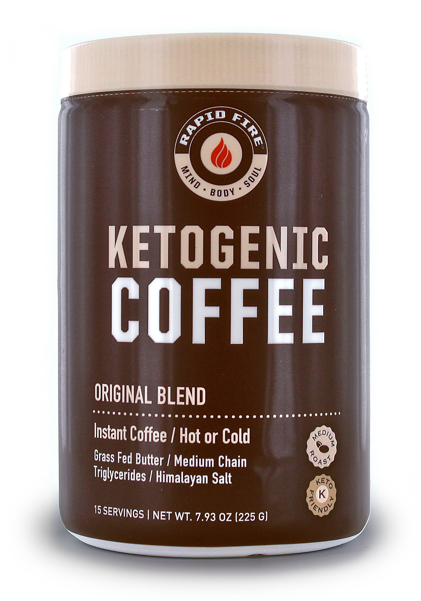 Rapid Fire Ketogenic Coffee Canister - Windmill Vitamins