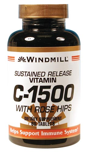 Windmill C-1500 mg.w/Rose Hips Tablets