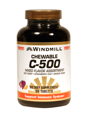 Windmill C-500 mg. Chewable Assorted Flavors