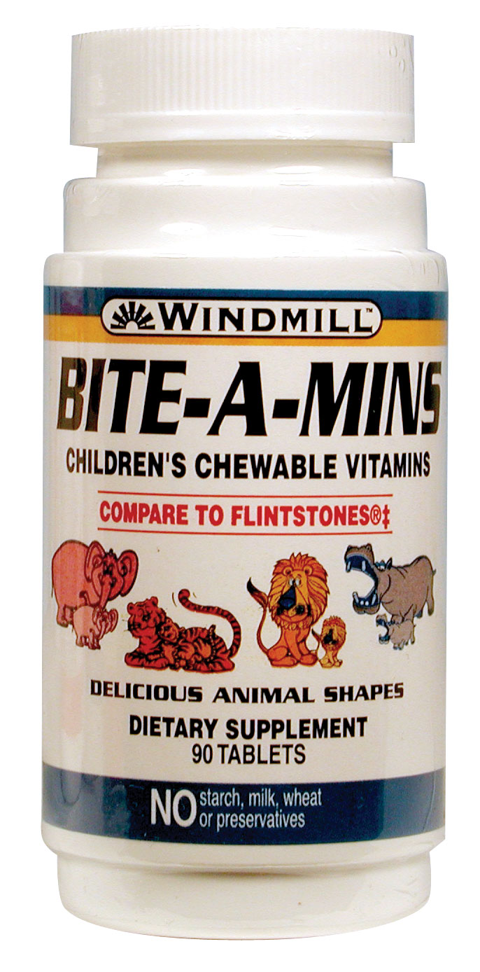 Windmill Bite-A-Mins Children's Chewable Tablets